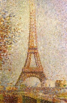 Eiffel Tower by Seurat Canvas Print
