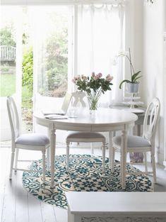 Teppich rund Patchwork-Mosaico Blau ø 200 cm rund