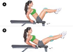 This is a great lower ab exercise that also allows you to work your inner thighs as well as your core. Try 3 x 12-15.