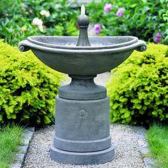 Campania International Medici Ellipse Cast Stone Outdoor Fountain Verde - FT-53-VE