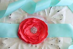 wedding colors - Coral, Aqua and Tan