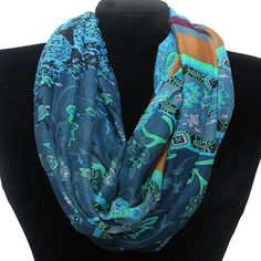 Floral and Paisley Infinity Scarf Fashion Jewelry Wholesale