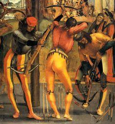 Фрагмент картины «Мученичество Святого Себастьяна». Автор: итальянский живописец Лука Синьорелли (Luca Signorelli, 1450 – 1523). -