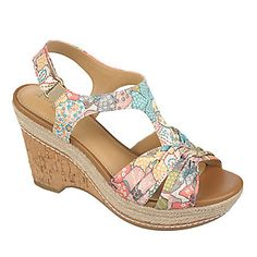 Naturalizer Linore Wedge Sandals (FootSmart.com)