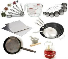 Essential Kitchen Tools: Recommended list of basic kitchen items PLUS links for stocking a new kitchen, essential baking tools, pots and pans, and downsizing kitchen equipment.