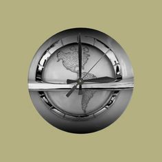 World in Chrome Wallclocks