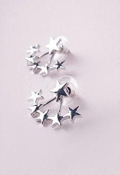 Multi Star Ear Jackets - Accessories - Jewellery - Missguided