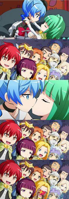 Korosensei Quest Nagisa kisses Kayano