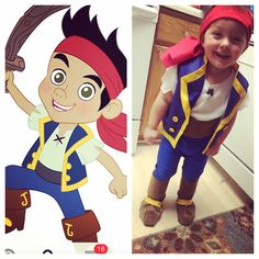 Jake and the Neverland Pirates DIY Halloween costume