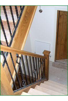 Moreton Barn Oak And Metal Staircase