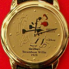 Disney Steamboat Mens Seiko Mickey Mouse Watch New