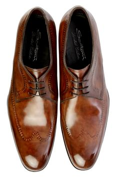 """Santoni: """"Limited Edition"""" loafer made from soft calf naturally tanned and leather sole. Comfort, flexibility and elegance are its strengths. Entirely handcrafted. http://shop.santonishoes.com"""