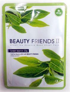 녹차 마스크팩(Greentea) 피부를 청정과 수렴효과가 우수한 녹차추출물이 피부를 보호하고 촉촉하게 유지시켜주는데 도움을 줍니다.