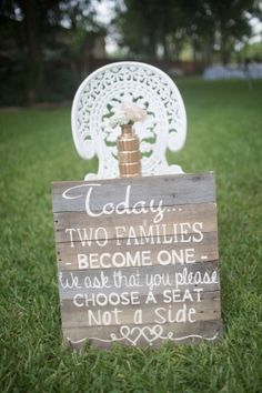 Sweet outdoor/backyard wedding ideas