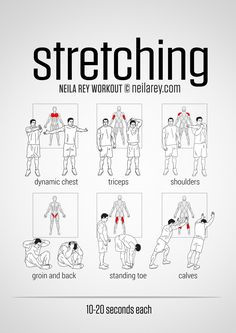 Stretching - I have dreams of parkouring some day, and that'll require flexibility as well as strength, so it's important not to forget to stretch!