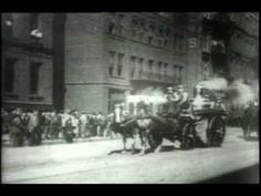 Firefighting in the Horse-Drawn Era - Getting There. Out of the door in less than 30 seconds.
