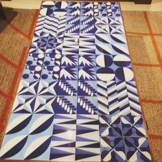 Exquisite Norwegian design onboard Viking Star.  Beautiful blue and white traditional designs.