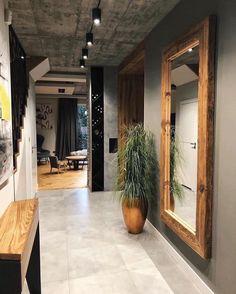 Home Building Design, Home Room Design, Dream Home Design, Interior Design Living Room, House Design, Loft Design, Design Kitchen, Flur Design, Loft Interior