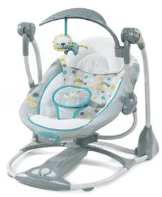 Ingenuity ConvertMe Portable Swing - Ridgedale - When the list of baby gear items feels endless, a combo seat fits just right. This baby swing converts to a vibrating infant seat – two parenting must-haves in one. When used in swing mode, 5 automa. Portable Baby Swing, Bebe Video, Swings For Sale, Baby Swings, Baby Bouncers And Swings, Small Baby, Baby Registry, Baby Gear, Baby Toys