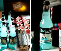 soda bar (with custom labels) and love the star cake pops