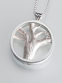 Tree of Lives Multi Chamber Cremation Pendant - Keep a loved one close to your heart with cremation jewelry. Tree of Lives pendant has 4 chambers.