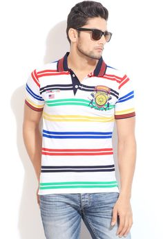 Integriti Striped Men's #Polo Neck #style #BeUrself #fashion #strips