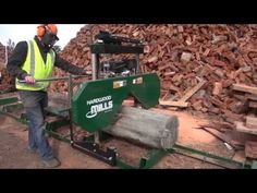 Using The Quick And Dirty Band Saw Mill - YouTube