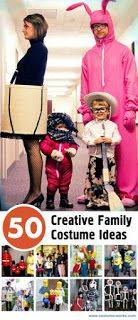50 different creative, cheap & easy costume ideas for families!!!