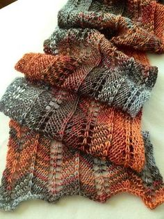 Project Gallery for Favorite Scarf Ever - free knitting pattern by Lisa Bruce Lace Knitting Patterns, Loom Knitting, Knitting Stitches, Free Knitting, Scarf Patterns, Knitting Tutorials, Knitting Machine, Knitting Projects, Finger Knitting