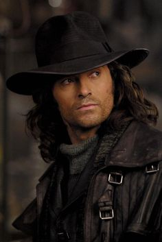 Hugh Jackman in Van Helsing. Not a great movie, but who really cares?