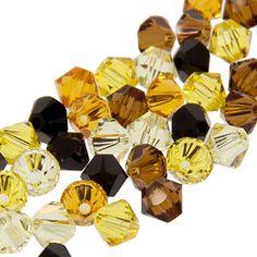 5328 4mm Swarovski Elements Crystal Mix - Bumble | Fusion Beads