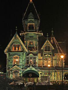 Carson Mansion at Christmas