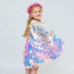 2019 New Girls Mermaid Cloak Flash Cute Princess Sweet Cloak Halloween Costumes Cute Princess, Baby Girl Princess, Princess Outfits, Princess Costumes, Kids Costumes Girls, Girl Costumes, Cosplay Costumes, Mermaid Outfit, Mermaid Clothes