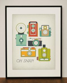 """Oh snap!"" Such a cool print for a shutterbug."