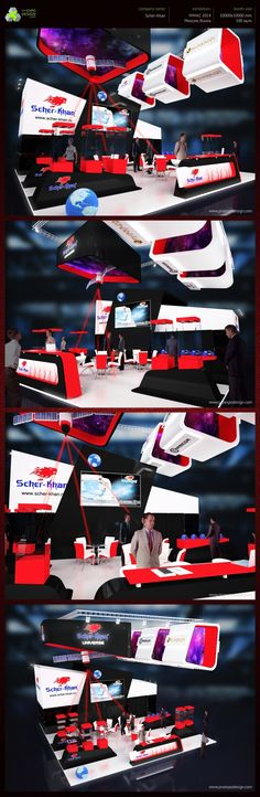 Scher-Khan exhibition booth design on Behance, Fantastic looking stand.. for all your #Pomotional merchandise for #TradeShows check our new website