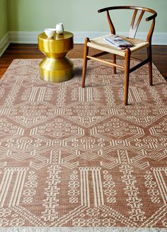 Artifact Hand-Knotted Rust Area Rug