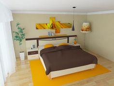 school project, bedroom 2, 3ds max