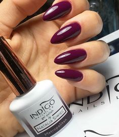 Gel Polish Colors, Nail Colors, Nail Polish, Colorful Nail Designs, Gel Nail Designs, Indigo Nails, Indigo Colour, Autumn Nails, Red Nails