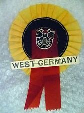 Rosette- 1966 World Cup Rosette WEST GERMANY (Excellent, Genuine*)○