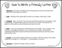 How To Write A Friendly Letter Free Printables  Friendly Letter