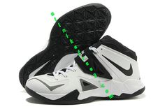 Nike Zoom Lebron Soldier 7 Sample Simple White Black Metallic Silver 599264  003 a43da33a1