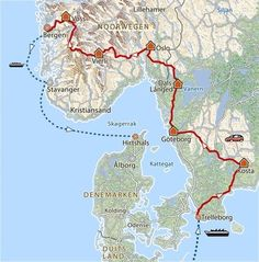 19 daagse rondreis Zweden en Noorwegen · Pharos Reizen Norway Roadtrip, Camper, Kristiansand, Motorcycle Travel, Stavanger, Odense, Trip Planning, Sweden, Road Trip
