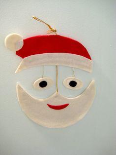 Vintage Felt Santa Mobile for sale on Etsy.