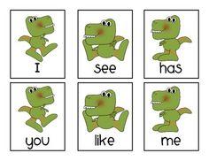 free dinosaur sight word cards/game Sight Word Practice, Sight Word Games, Sight Word Activities, Literacy Activities, Sight Words, Literacy Centers, School Fun, Pre School, School Stuff