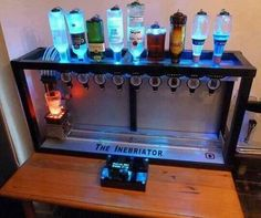 The man cave bar tap system