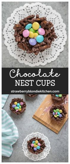 These 2 ingredient Chocolate Nest Cups are sweet, salty and can be filled with your favorite treats. They're adorable, delicious and perfect for holidays, showers and parties! AD #SpringMoments #easter #eastereggs #easterbasket #easterbaking #springbaking #springdessert #chocolate #chocolatenests #eastercrafts