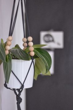 little birdie : DIY - macrame plant hanger