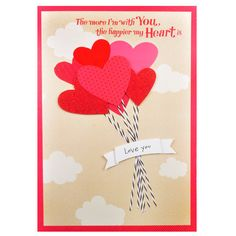 Huge Valentines Day Greetings For Sweetheart THE more I'm With You,the happier my Heart is love you.. I LOVE TO LOVE YOU… There are so many things I love about you…Rs. 300 : Shop Now : http://hallmarkcards.co.in/collections/valentines-cards/products/valentines-day-greetings-online