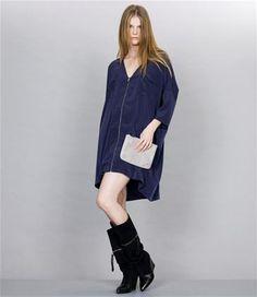 Designers Remix: Prussian blue Puredres kjole