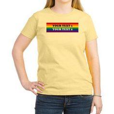 Cafepress Personalized Cute Rainbow Women's Light T-Shirt, Size: Medium, Yellow